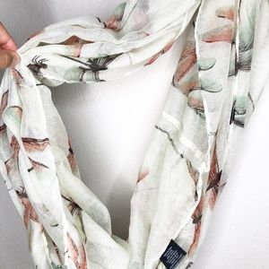 🛍3/$25 Women's White Dragonfly Infinity Scarf